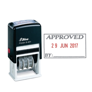 Shiny Self Inking Approved Dater Stamp