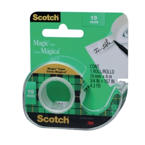 3M SCOTCH MAGIC TAPE WITH DISPENSER 19MM X 4M