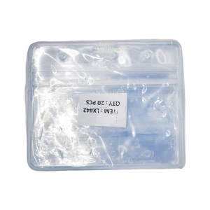 Laminex Zip Lock Horizontal Name Badge Holder 7.8 X 10cm - Pack of 20
