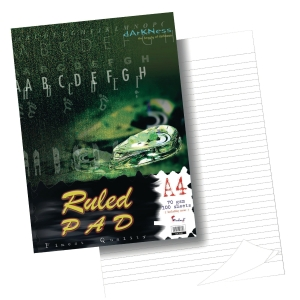 RULED PAD STANDARD A4 NOTEPAD 70GSM 100 SHEETS