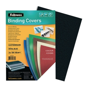 Fellowes FSC Certified A4 Binding Cover 250gsm Black - Pack of 100