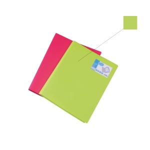 BANTEX PP LIME A4 DISPLAY BOOK - 20 POCKETS