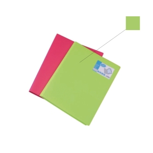 BANTEX PP LIME A4 DISPLAY BOOK - 40 POCKETS