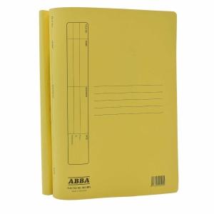 ABBA STANDARD MANILA YELLOW CARD FOLDER