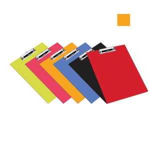 BANTEX PVC STANDARD COBALT ORANGE FC CLIPBOARD