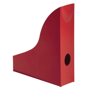DURABLE RED MAGAZINE RACK