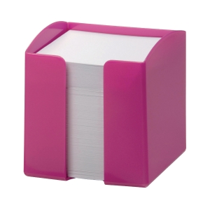 Durable Pink Note Box 90 X 90MM Capacity 800 Paper Notes