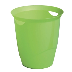DURABLE GREEN WASTE BASKET - 16 LITTER CAPACITY