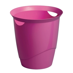 DURABLE PINK WASTE BASKET - 16 LITTER CAPACITY