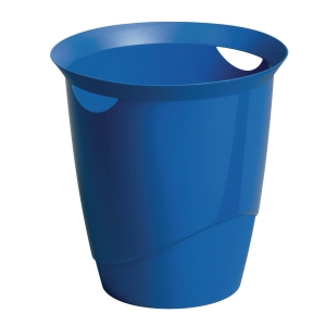 DURABLE BLUE WASTE BASKET - 16 LITTER CAPACITY