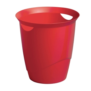 DURABLE RED WASTE BASKET - 16 LITTER CAPACITY