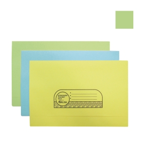 ABBA MANILA CARD GREEN POCKET FILE