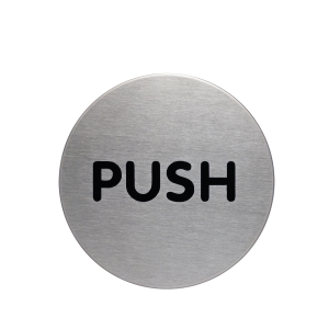 DURABLE STEEL   PUSH   PICTOGRAM SIGN 65MM