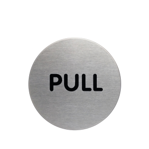 Durable Steel  PULL  Pictogram Sign 65mm
