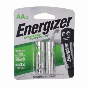 ENERGIZER HR15 AA RECHARGE BATTERIES - PACK OF 2