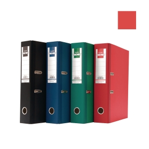 Bantex Trendy Paper Lever FC Arch File Red 7cm