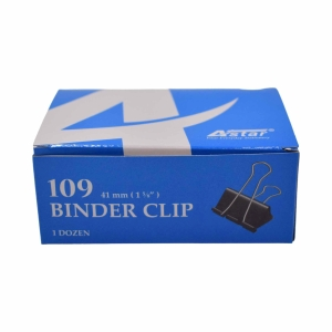 BLACK BINDER CLIPS 41MM - BOX OF 12