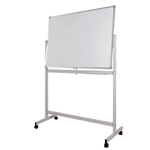 WRITEBEST MOBILE DOUBLE SIDED MAGNETIC WHITEBOARD 60 X 90CM