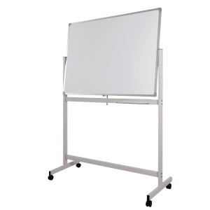 WRITEBEST MOBILE DOUBLE SIDED MAGNETIC WHITEBOARD 90 X 120CM