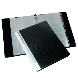 BINDERMAX REFILLABLE BUSINESS CARD ALBUM - 500 POCKETS CAPACITY