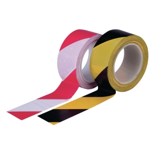 AREA DIVISION WITH & RED FLOOR MARKING TAPE 48MM X 33M