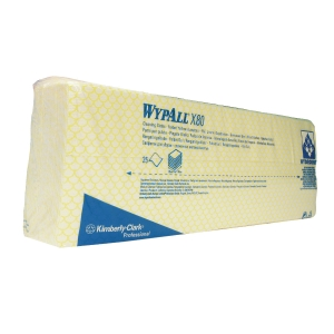Kimberly-Clark Wypall Yellow Wipes - Pack of 25