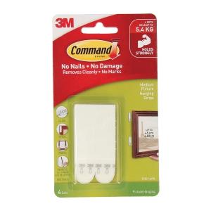 3M COMMAND PICTURE STRIP - PACK OF 4