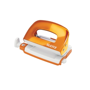 LEITZ 50601 WOW ORANGE MINI PUNCH - 10 SHEETS CAPACCITY