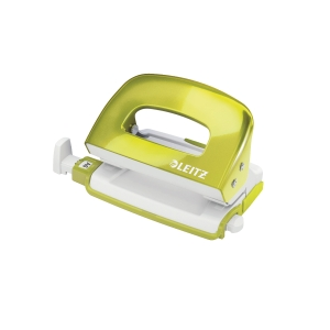 LEITZ 50601 WOW GREEN MINI PUNCH - 10 SHEETS CAPACCITY