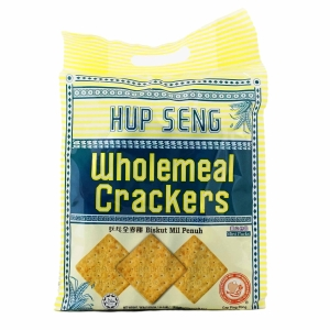 HUP SENG WHOLEMEAL CRACKERS - PACK OF 14