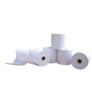 SONO-ROLL WHITE PAPER ROLLS 57MM X 65M X 12MM - PACK OF 10