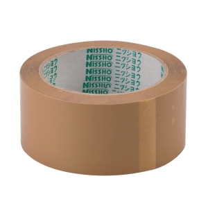 NISSHO OPP BROWN PACKING TAPE 48MM X 80M - PACK OF 6