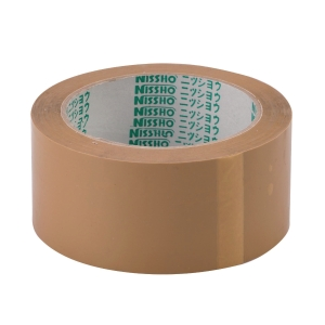 Nissho Opp Brown Packing Tape 60mm X 80m - Pack of 5