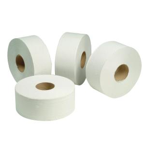 SCOTT JUMBO WHITE TOILET PAPER ROLLS 200M 2PLY - PACK OF 16 ROLLS