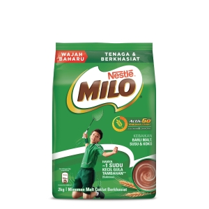 NESTLE MILO ACTIV-GO CHOCOLATE MALT DRINK - SOFT PACK OF 2KG