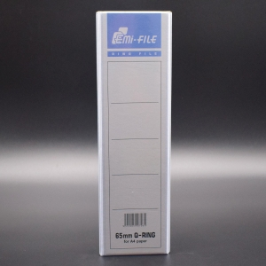 EMI File PVC Insert 2D Ring A4 Binder 65mm White