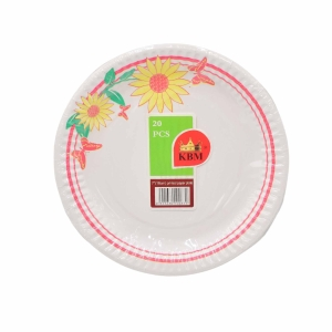 PAPER PLATE 7 INCH ASSORTED DESIGN-PACK OF 20
