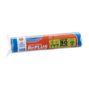 SEKOPLAS MEDIUM GARBAGE BAGS - 50 PER ROLL