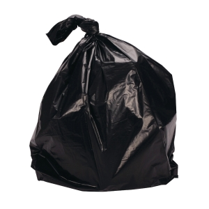Sekoplas Robot Waste Bags 74X90CM Black - Pack of 30