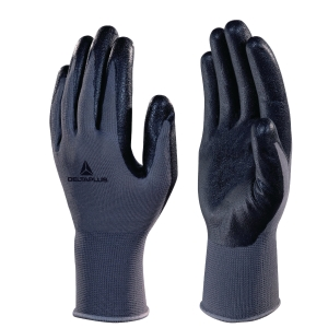 Deltaplus VE722 Foam Nitrile Palm Gloves - Black/ Grey - Size 9