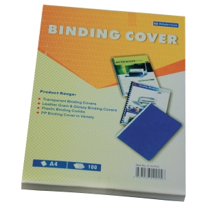 BINDERMAX PVC CLEAR A4 BINDING COVER 0.15MM - BOX OF 100
