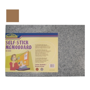 SUREMARK SELF STICK BROWN MEMO BOARD 60 X 40CM