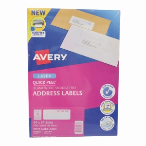 Avery L7157 Laser Address Label 64 X 24.3mm - Box of 3300