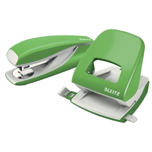 LEITZ STYLE GREEN 2-HOLE PUNCH -  30 SHEETS CAPACITY