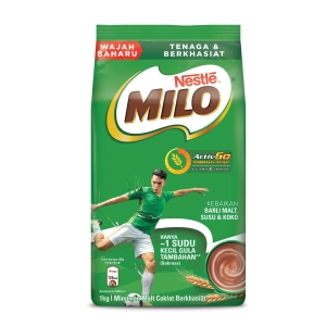 Milo Activ-Go Chocolate Malt Drink Refill Nestle - Pack of 1kg