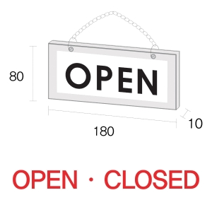 ARTSIGN ACCRYLIC OPEN AND CLOSE SIGN