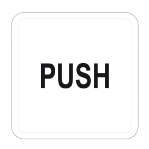 Artsign  PUSH  Sign