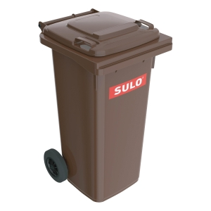 SULO 2-WHEELED BROWN CONTAINER