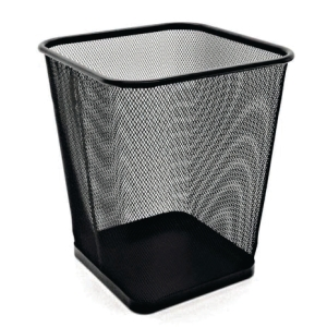 MESH METAL SQUARE BLACK WASTE BIN 260 X 300MM