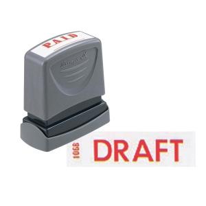 XSTAMPER VX SELF INKING RED DRAFT STAMP